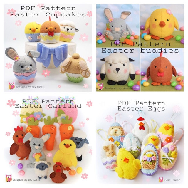 Easter sewing patterns image collections origami instructions easy original cute quirky sewing patterns by sewsweetuk on etsy negle Gallery