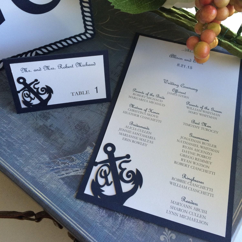 Nautical Themed Wedding Invitations: Laser Cut Wedding Invitations Nautical Themed Wedding